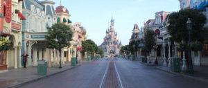 Main Street USA during Extra Magic Time at Disneyland Paris