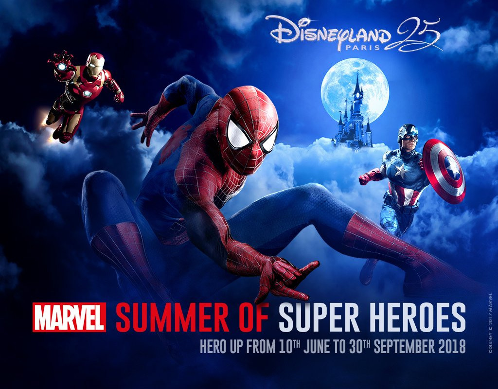 Marvel Summer of Heroes at Disneyland Paris poster