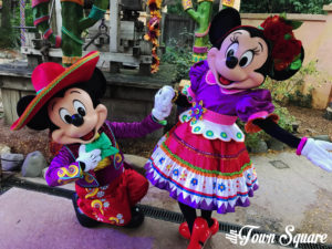Mickey and Minnie in their Mexican Outfits at Disneyland Paris