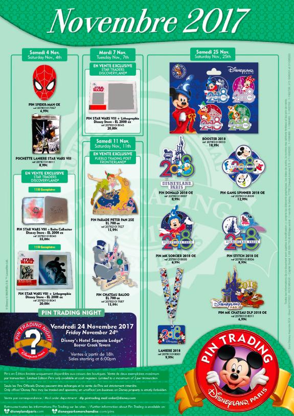 Disneyland Paris Pin Releases November 2017