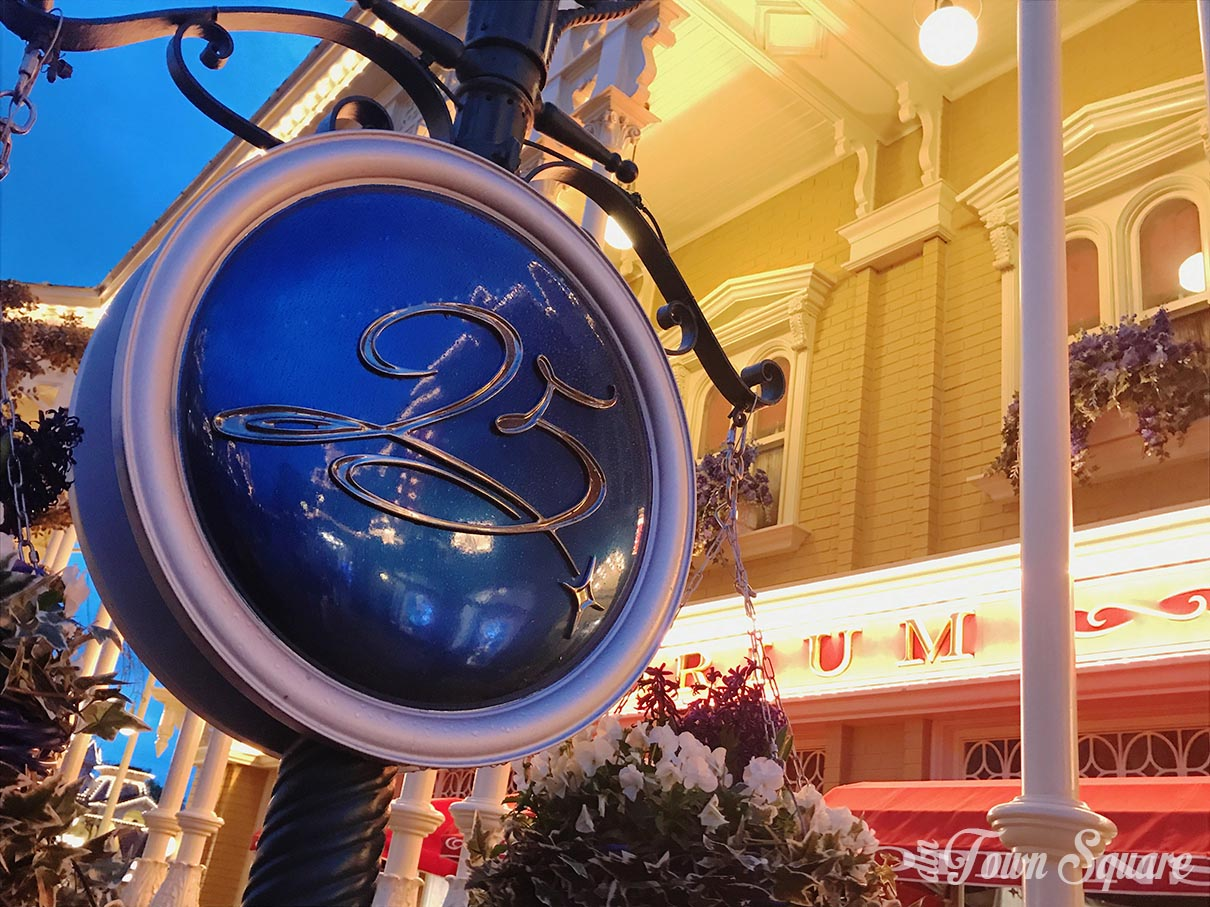 Disneyland Paris 25th anniversary decorations on Main Street USA