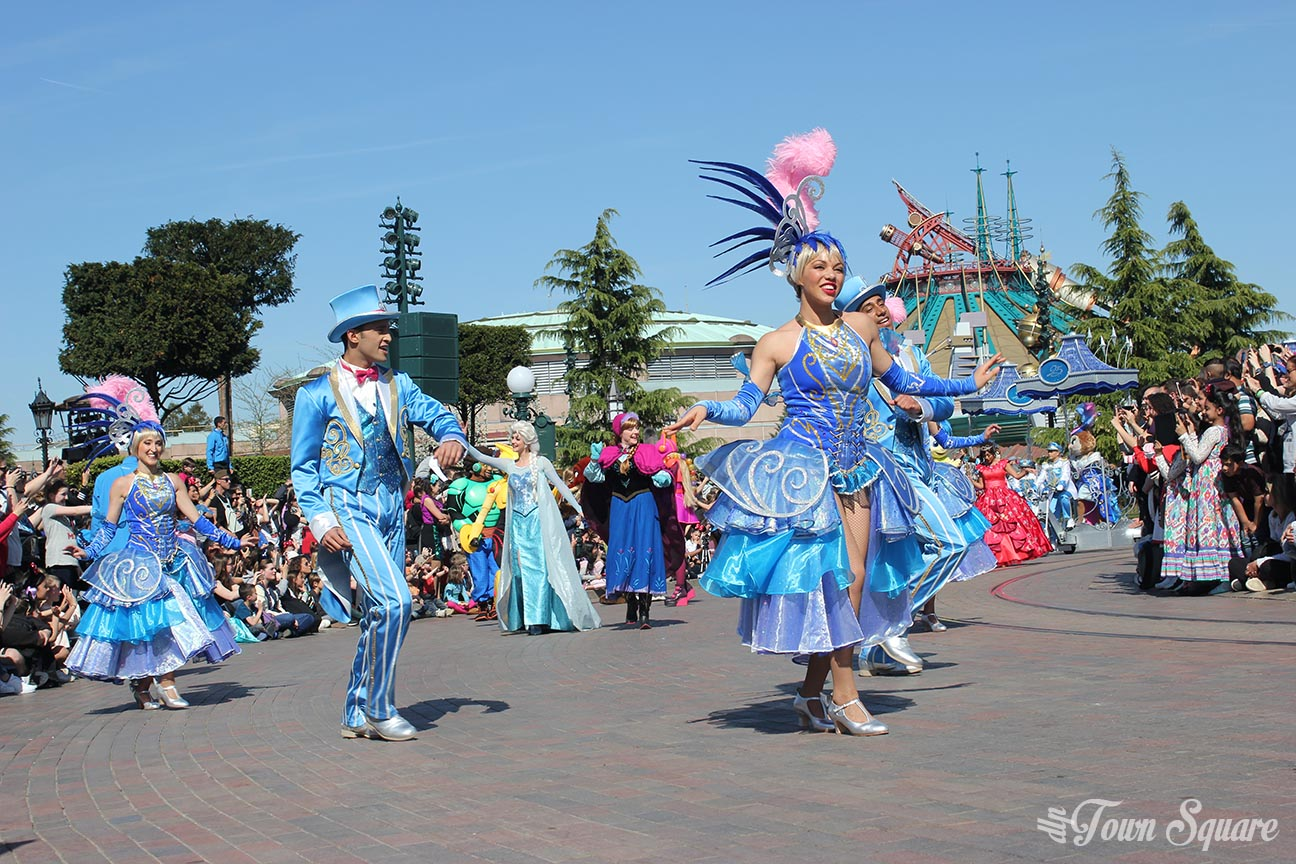 The Grand Celebration Parade at Disneyland Paris, April 12th 2017