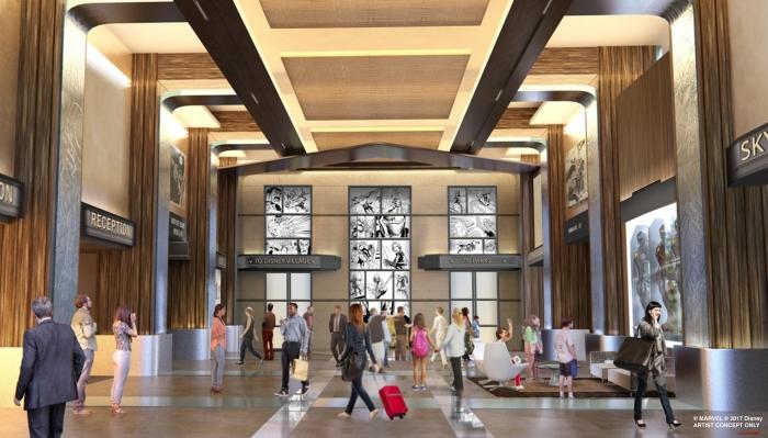 Disney's Hotel New York: The Art of Marvel concept art for Disneyland Paris