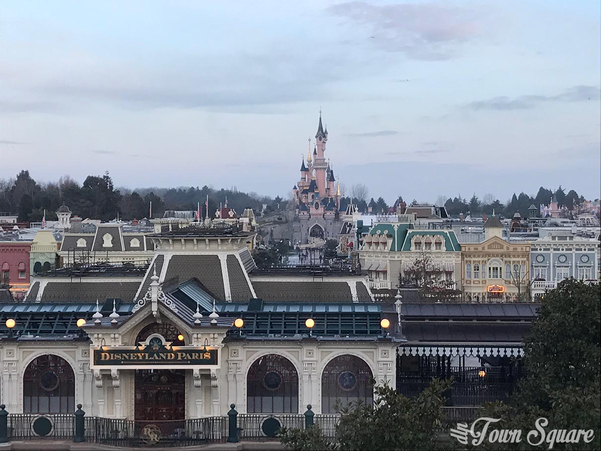 Main Street USA as seen from the Castle Club lounge