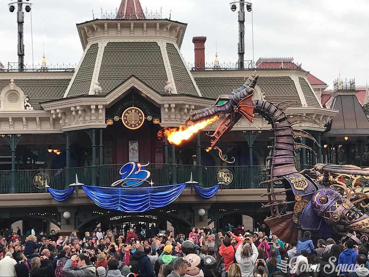Maleficent during Disney Stars on Parade at Disneyland Paris