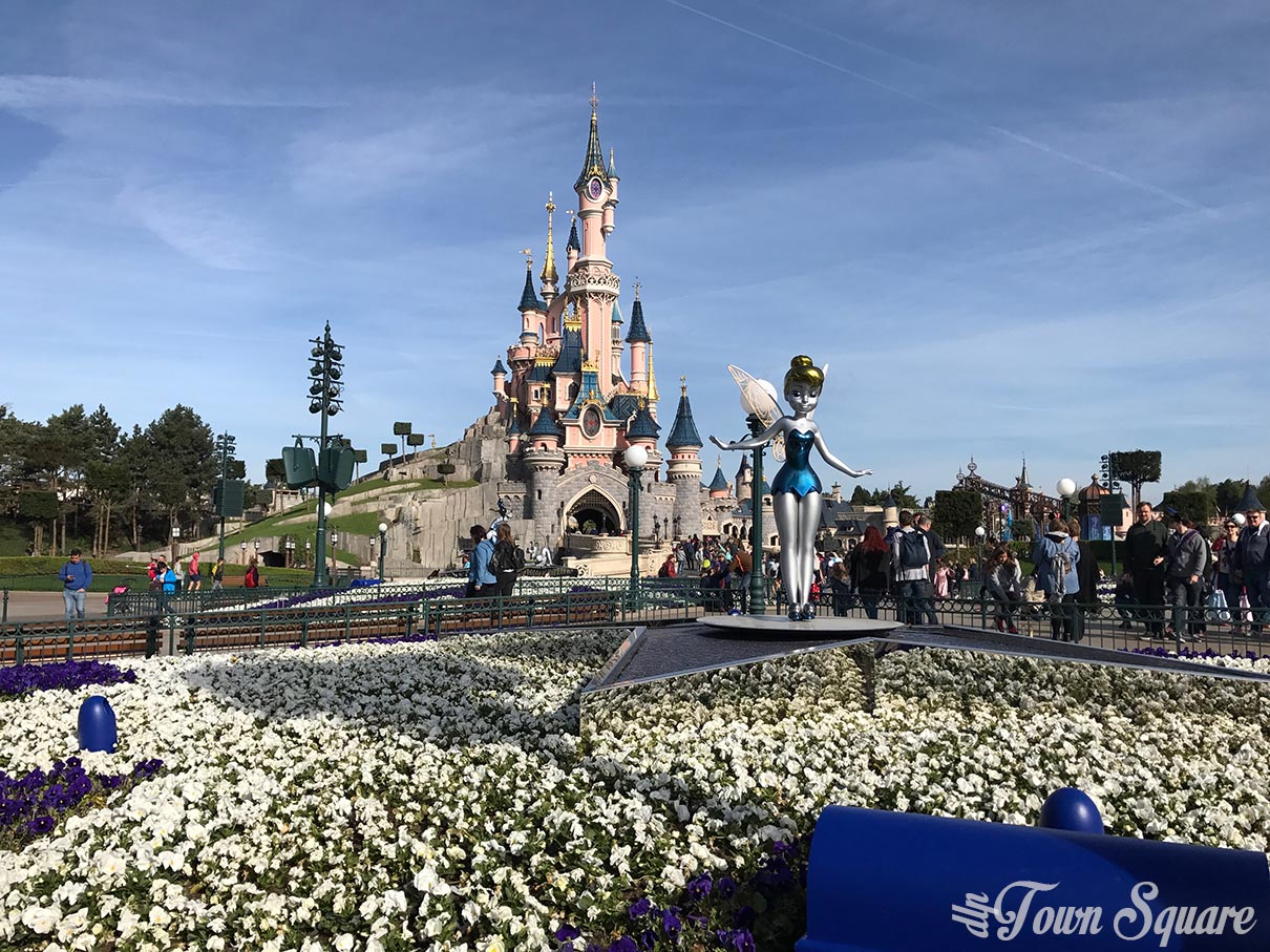 Sleeping Beauty Castle during the 25th anniversary at Disneyland Paris