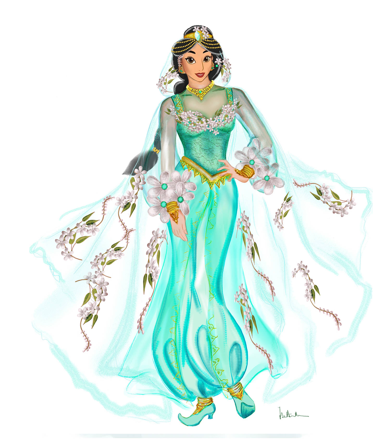 Jasmine's dress for the Pirates and Princess festival