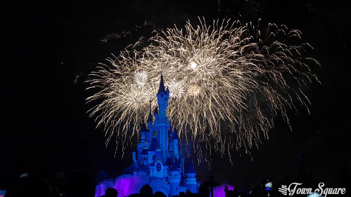New Year Fireworks at Disneyland Paris
