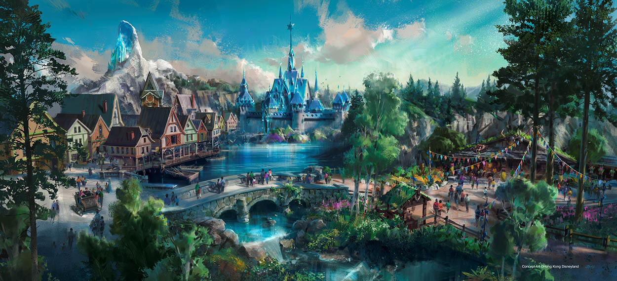 Frozen land at Hong Kong Disneyland Concept Art