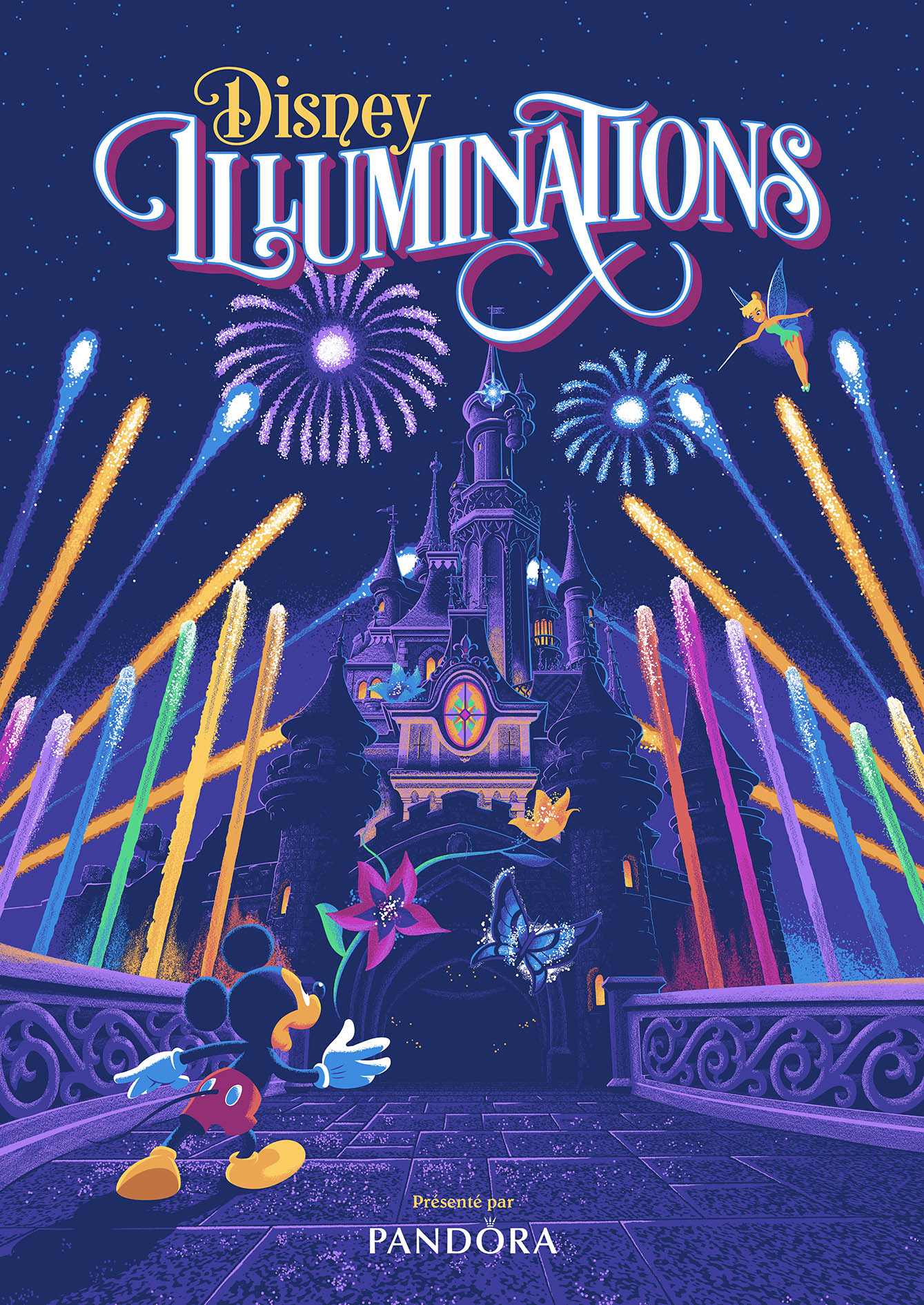 Disney Illuminations poster at Disneyland Paris