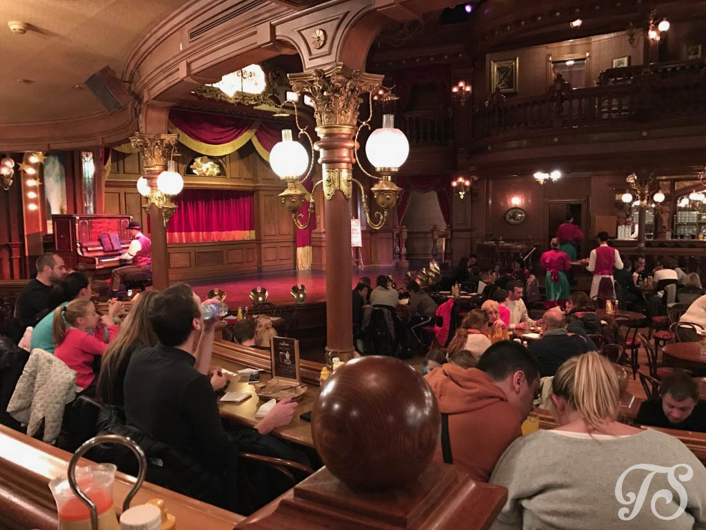 The Dining area at The Lucky Nugget Saloon at Disneyland Paris