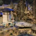 Star Wars Land model at Disneyland Resort and Walt Disney World