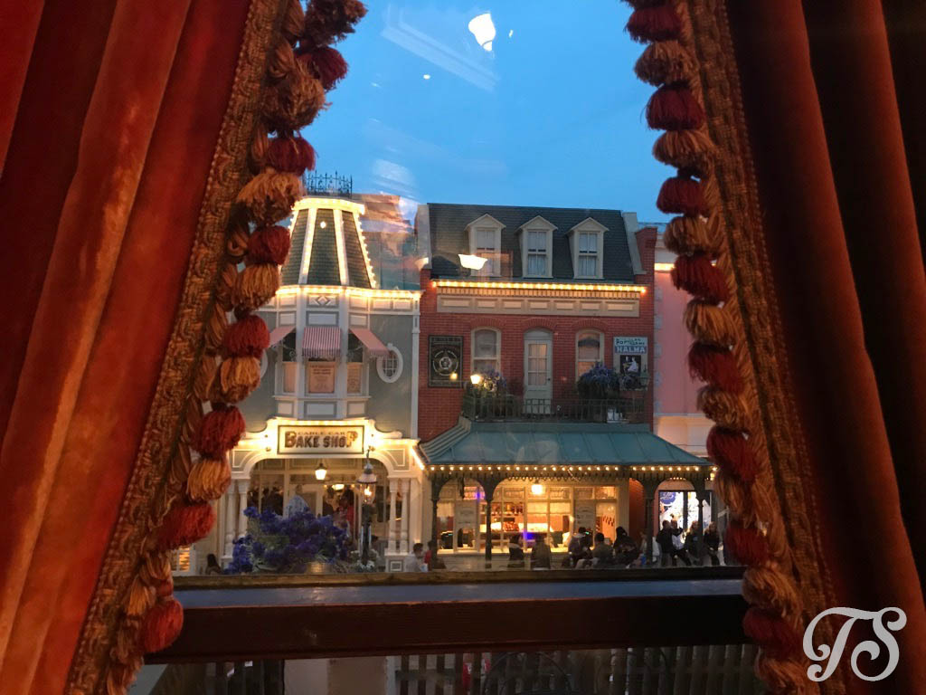 The view from the Frontierland Room at Walt's: An American Restaurant