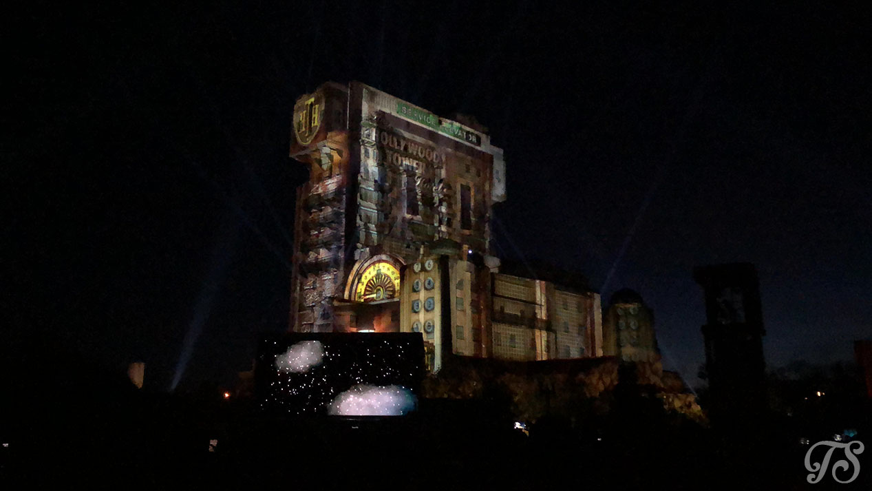 Hollywood Tower Hotel Gala Night at Disneyland Paris: Projection Show Elevator