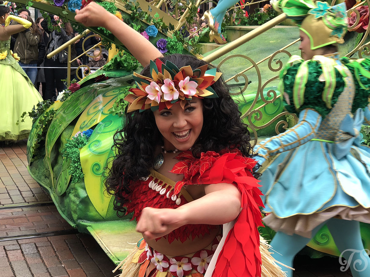 Moana during the Festival of Pirates and Princesses at Disneyland Paris
