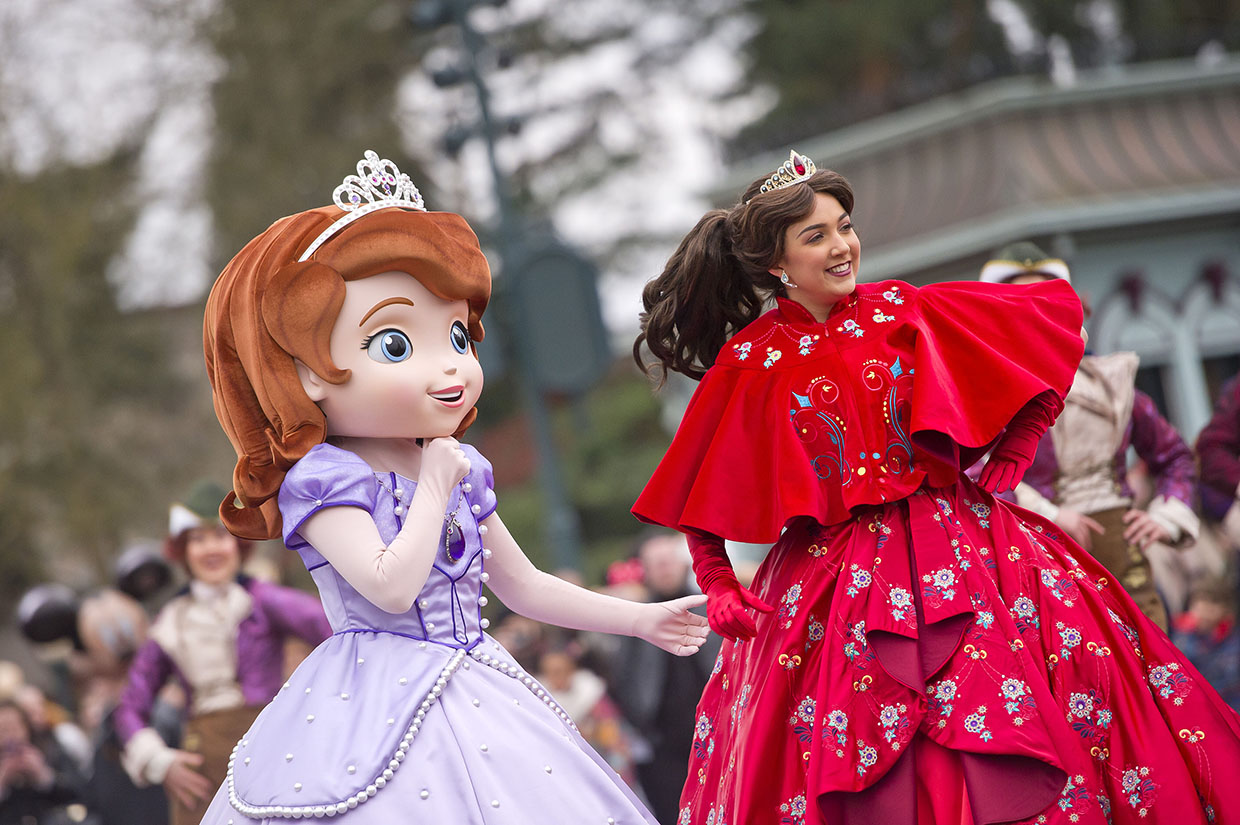 Princess Promenade, Sophia the First and Elena of Avalor at Disneyland Paris