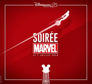Poster for the Disneyland Paris Marvel Annual Pass Night