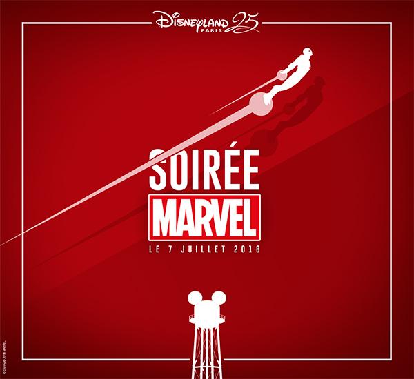 Poster for the Disneyland Paris Marvel Annual Pass Night