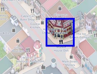 Market House Deli map at Disneyland Paris