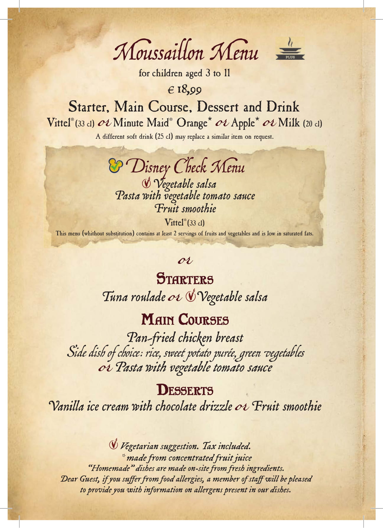 Captain Jack S Menu Dlp Town Square Disneyland Paris