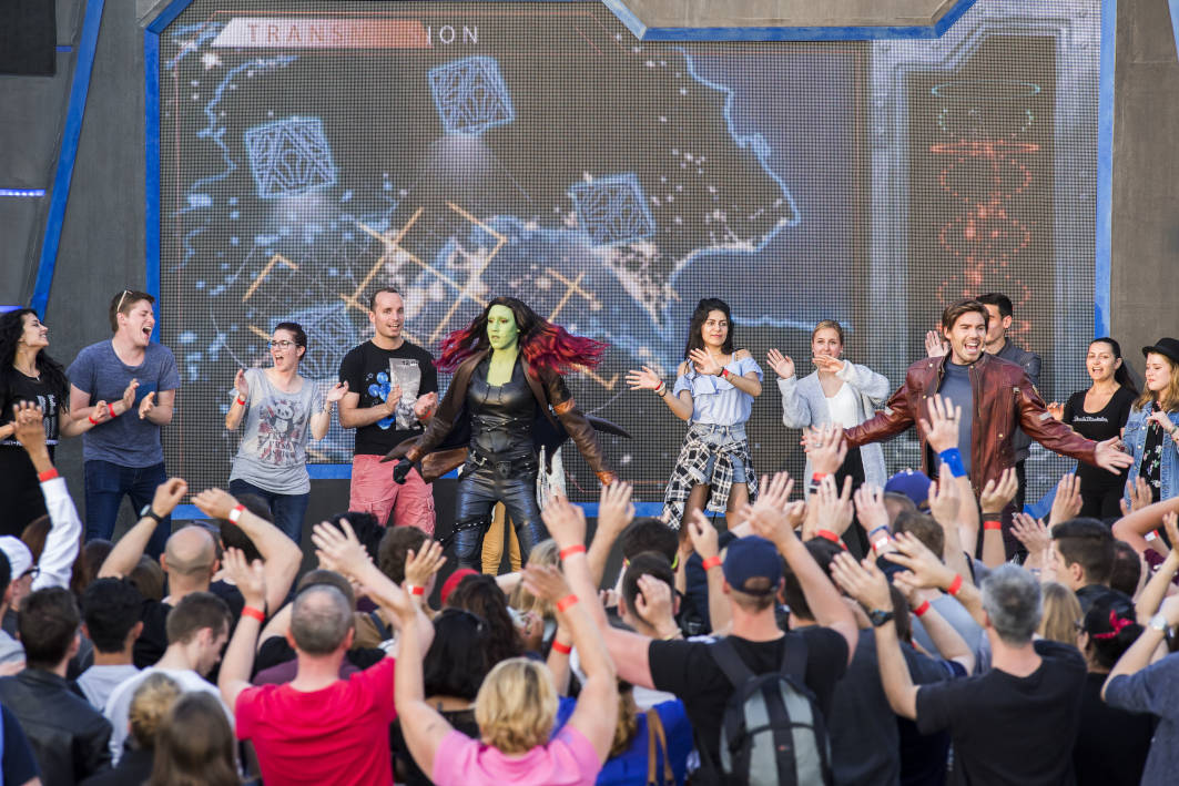 Audience participation at the Guardians of the Galaxy Awesome Dance Off during the Marvel Summer of Super Heroes at Disneyland Paris