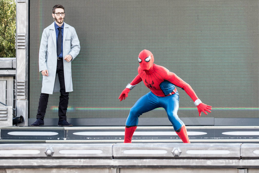 Spider-Man at the Stark Expo presents: Energy for Tomorrow show at Disneyland Paris during the Marvel Summer of Super Heroes