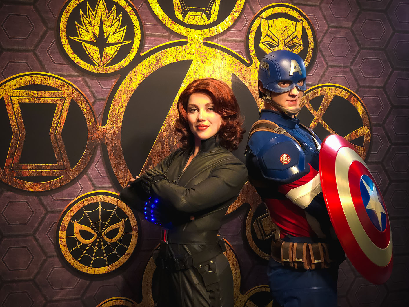 Marvel Signature Meal at Disneyland Paris - Black Widow and Captain America