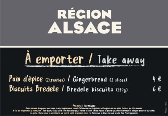 Alsace Chalet Menu at the Rendez-Vous Gourmand de Disneyland Paris 2018