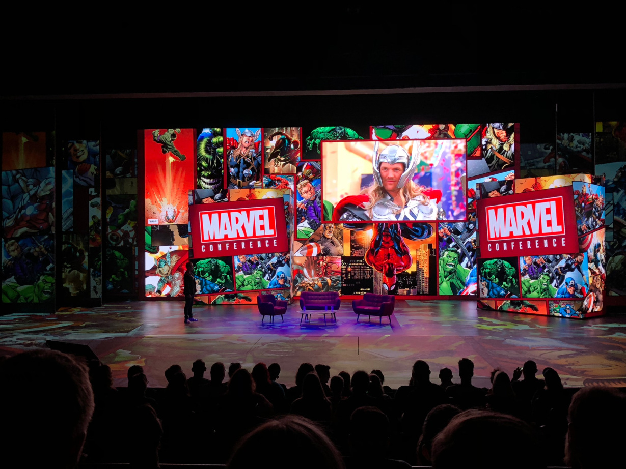 Marvel Conference at the Soirée Marvel annual pass party - Disneyland Paris