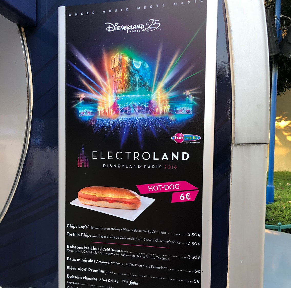 The food carts at Electroland at Disneyland Paris