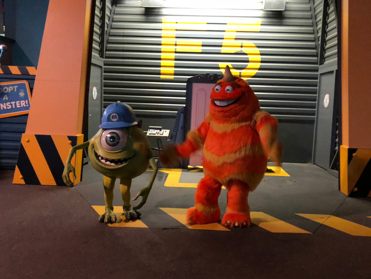 Mike Wazowski and George Sanderson at the Soirée Marvel - Disneyland Paris