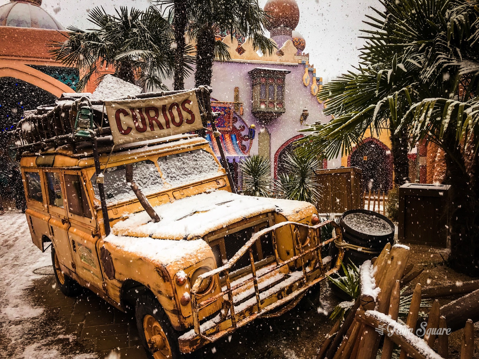 Snow in Adventureland at Disneyland Paris