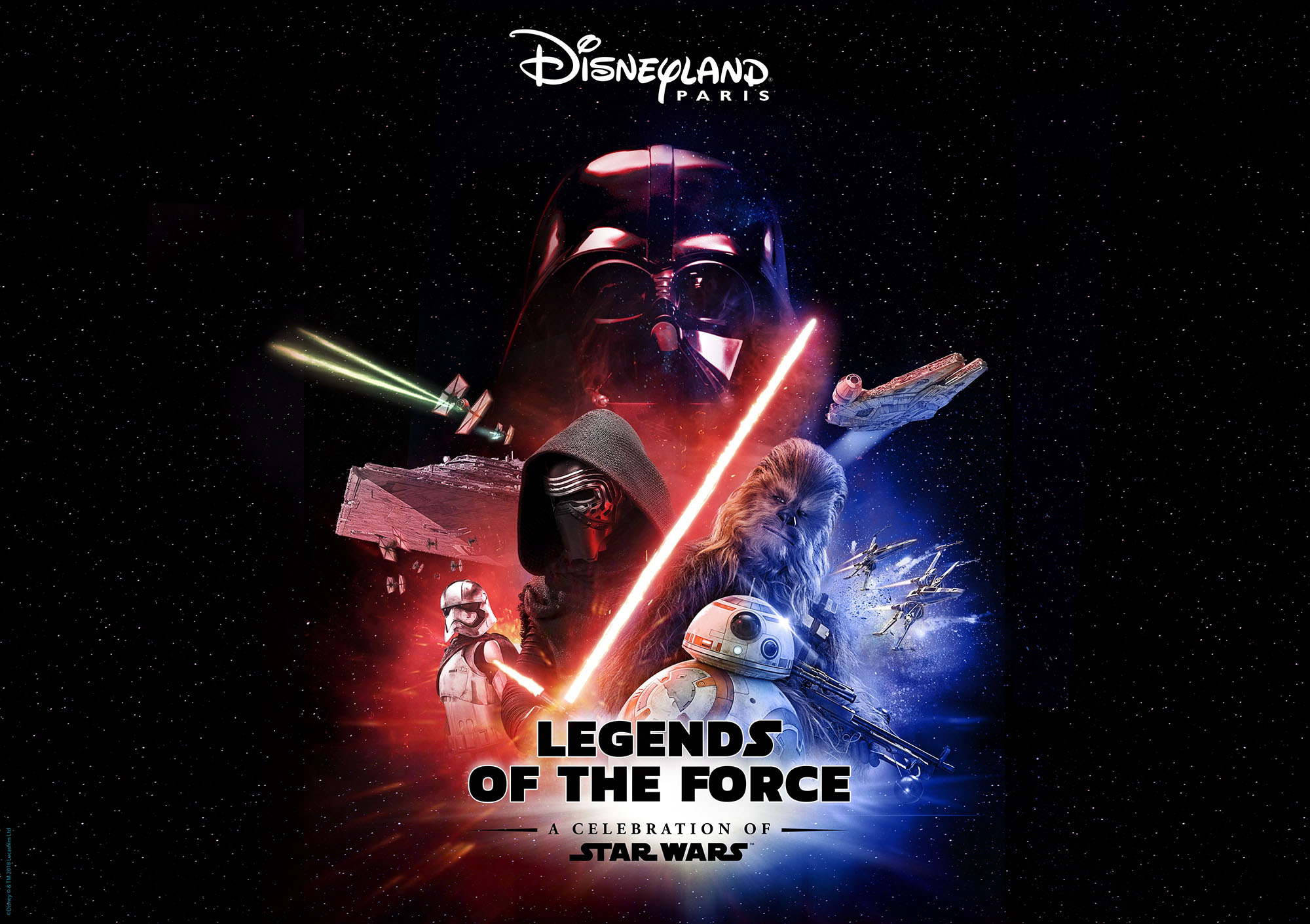 Disneyland Paris Legends of the Force visual