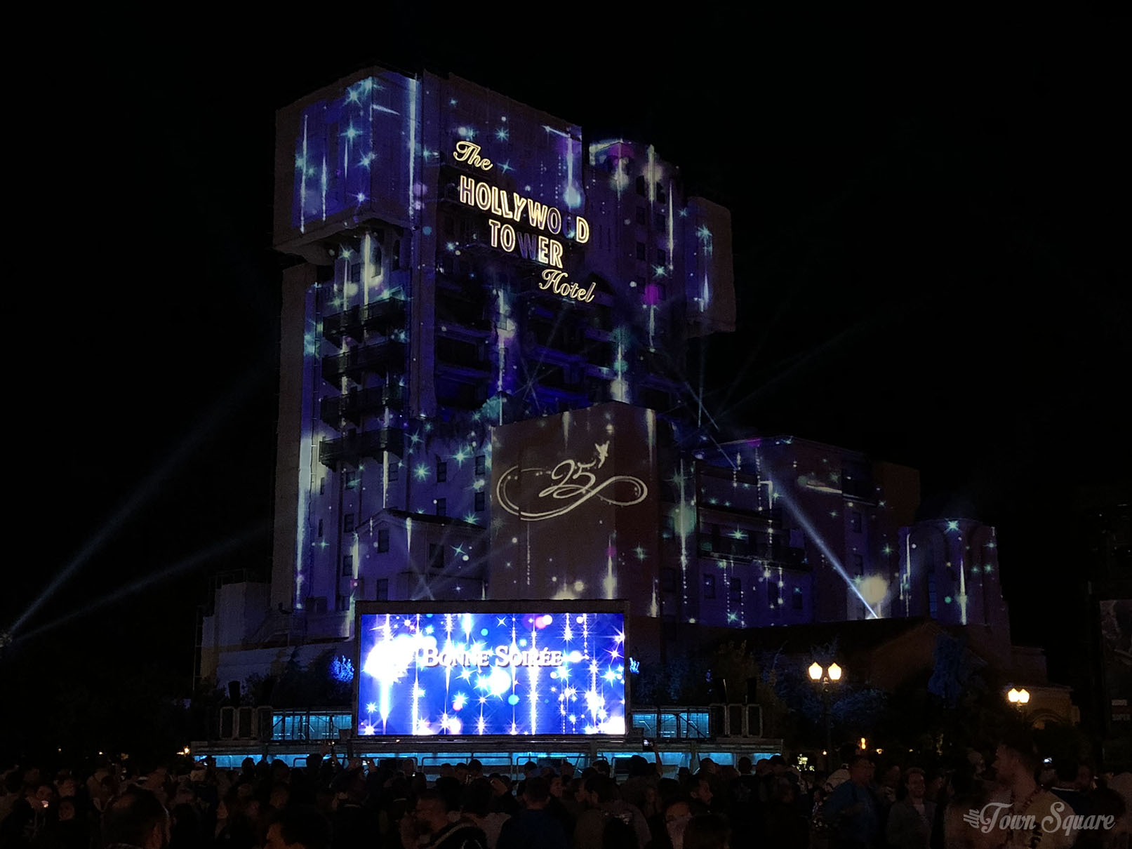 A sparkling Tower of Terror at the Disneyland Paris 25th anniversary Grand FInal