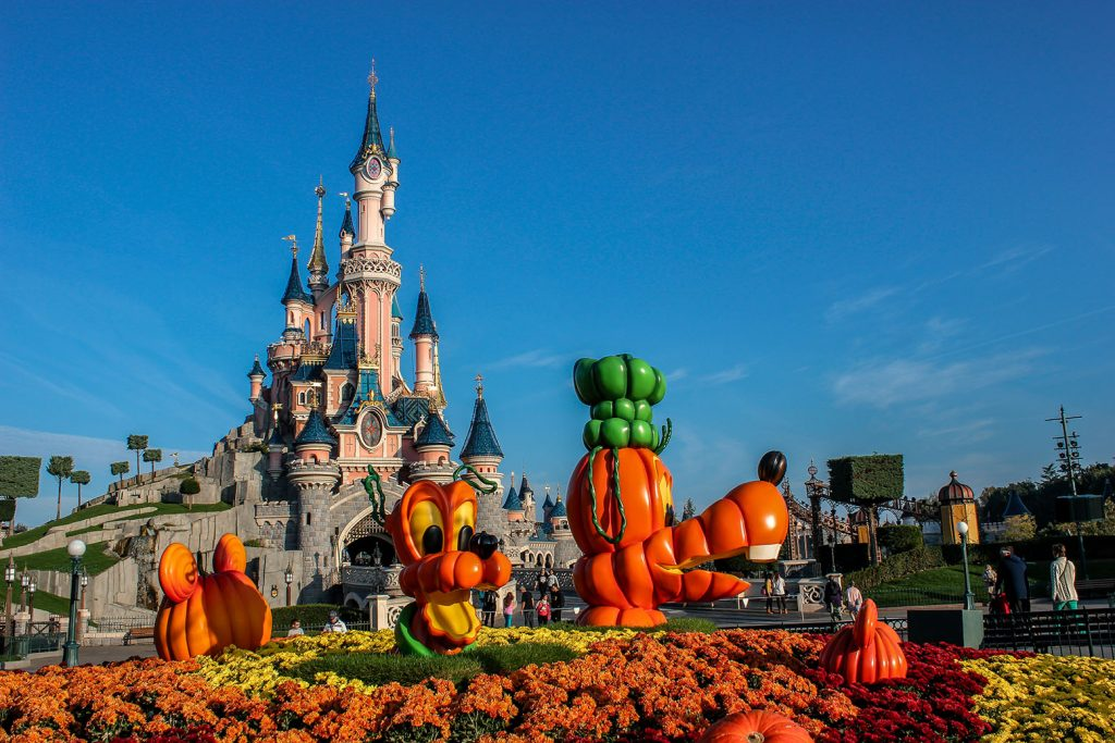 Disneyland Paris Central Plaza at Halloween