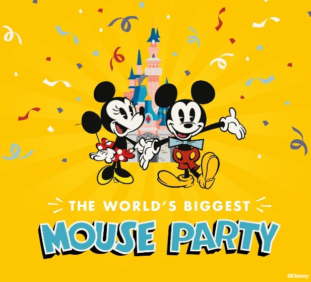 Mickey Mouse 90th Birthday visual at Disneyland Paris