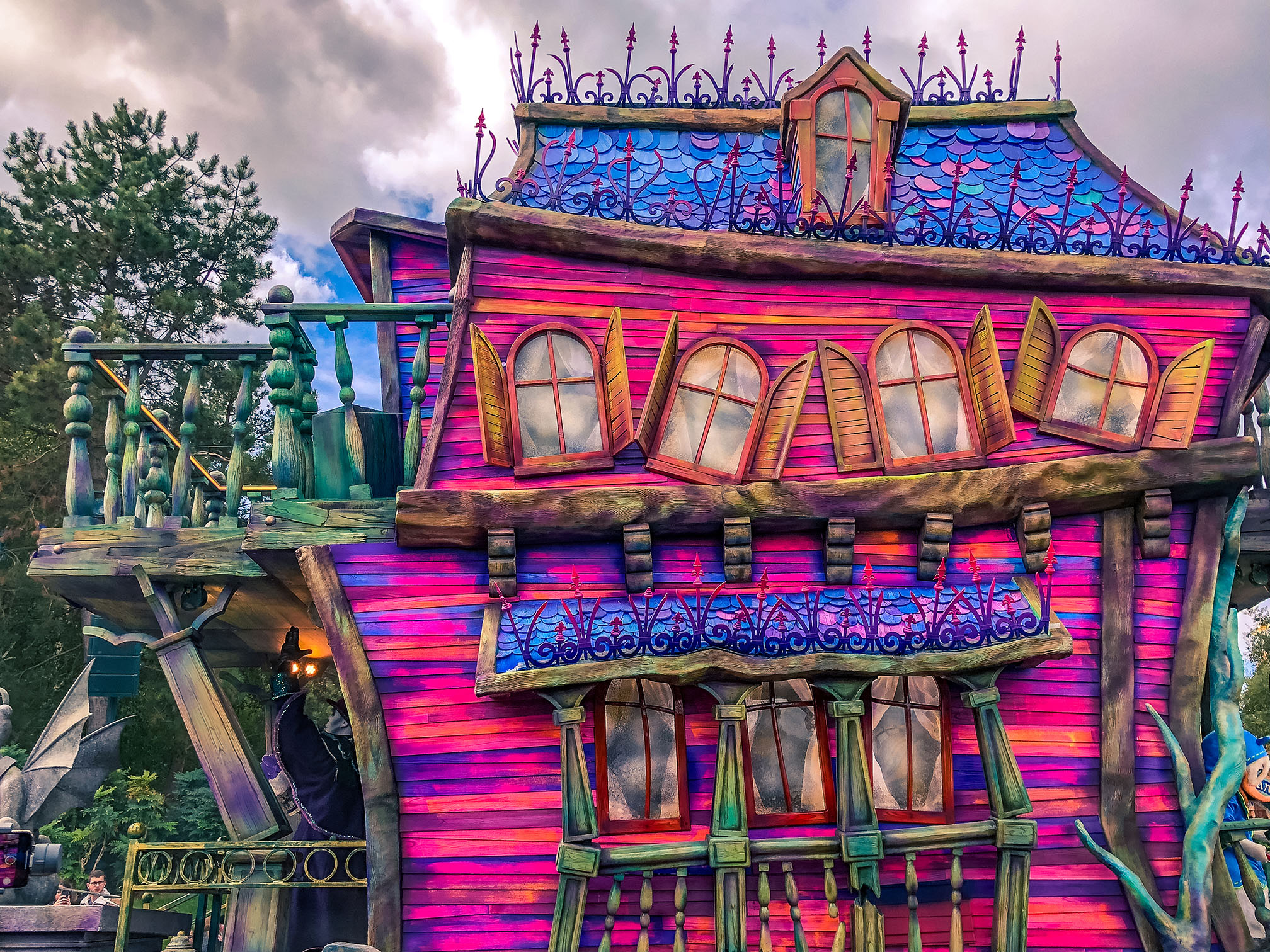 Mickey's Illusion Manor during the 2018 Halloween season at Disneyland Paris