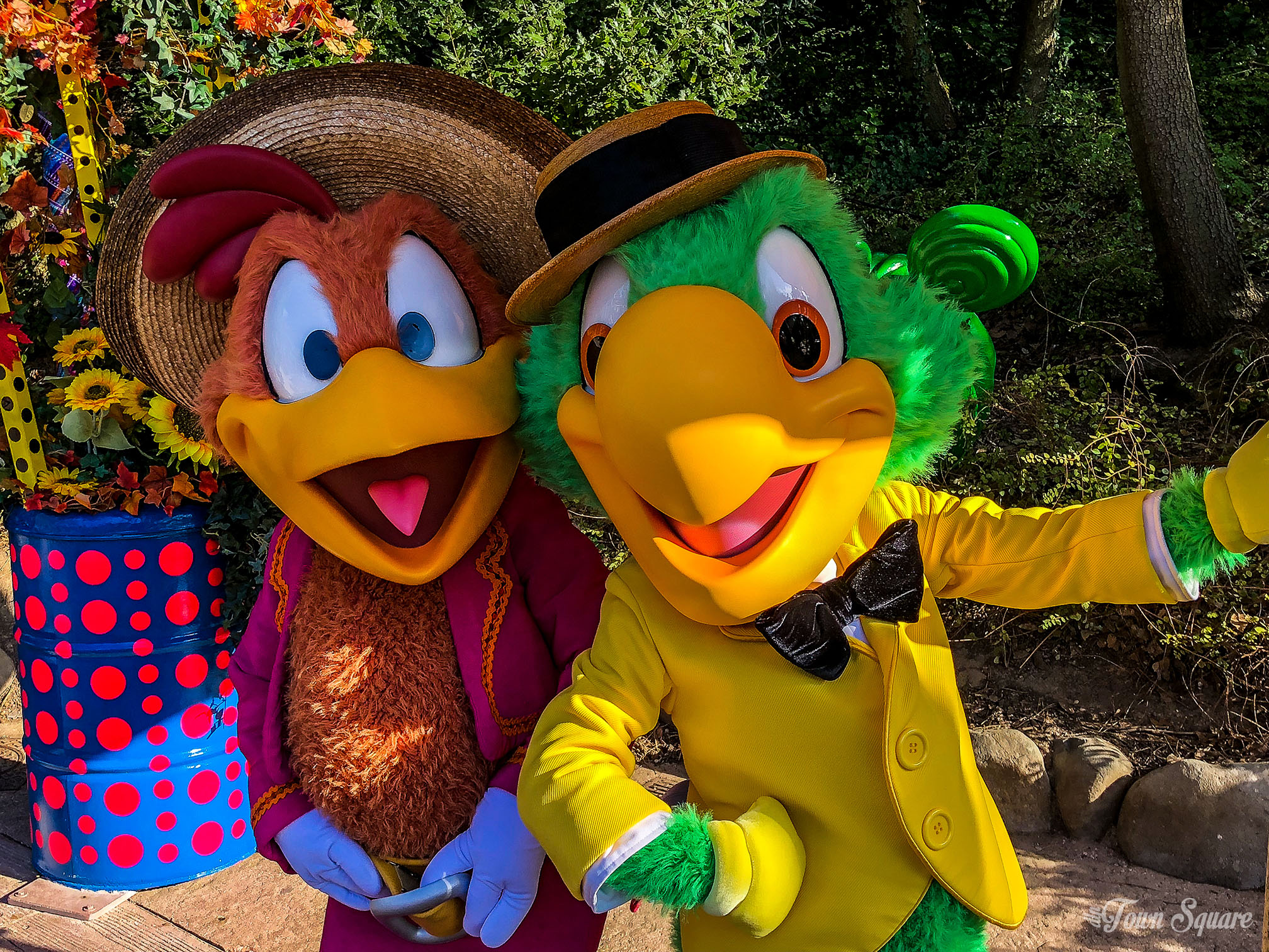José and Panchito at Disneyland Paris during the 2018 Halloween season