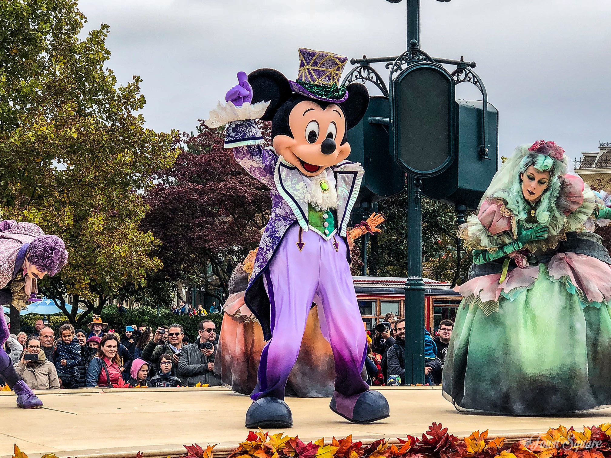 Mickey Mouse during the Halloween season at Disneyland Paris