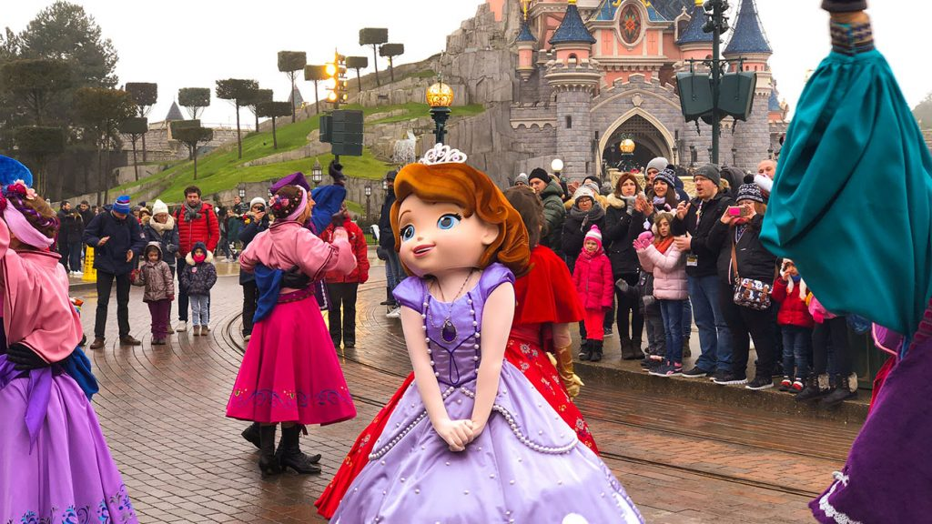 Sofia the First during the Princess Promenade - Festival of Pirates and Princesses 2019 at Disneyland Paris