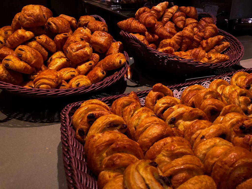Breakfast pastries at Disney's Sequoia Lodge
