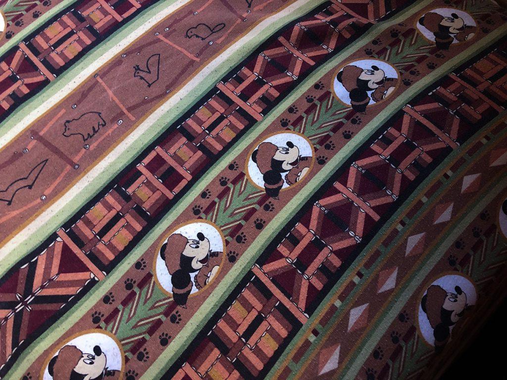 Bedding detail at Disney's Davy Crockett Ranch, Disneyland Paris