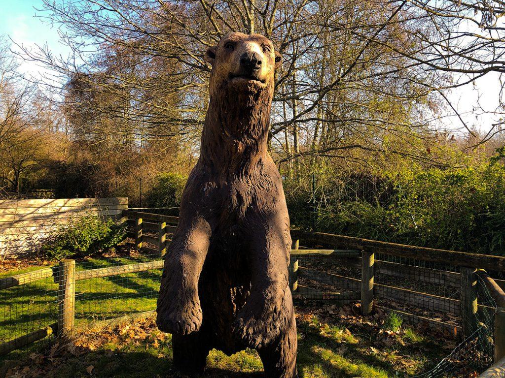xA bear statue at Disney's Davy Crockett Ranch - Disneyland Paris