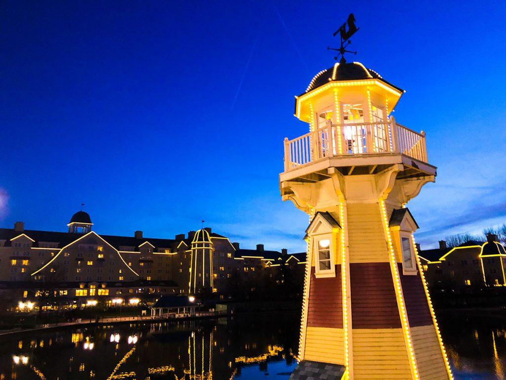 Sunset at Disney's Newport Bay Club - Disneyland Paris