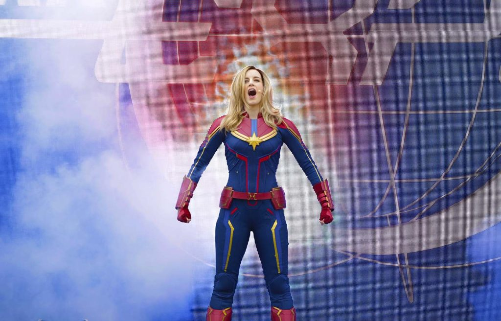 Captain Marvel in the Stark Expo presents: Energy for Tomorrow show