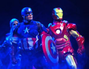 Iron Man and Captain America in Marvel Super Heroes United
