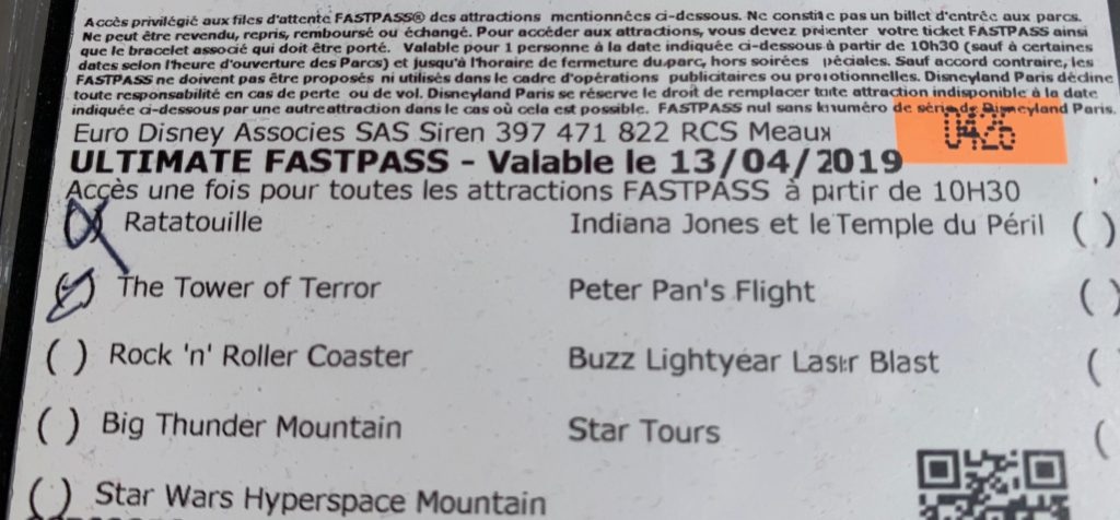 Ultimate Fastpass - Disneyland Paris