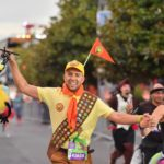 Runner dressed as Russel from Up during the Disneyland Paris Run Weekend 2018 5km race