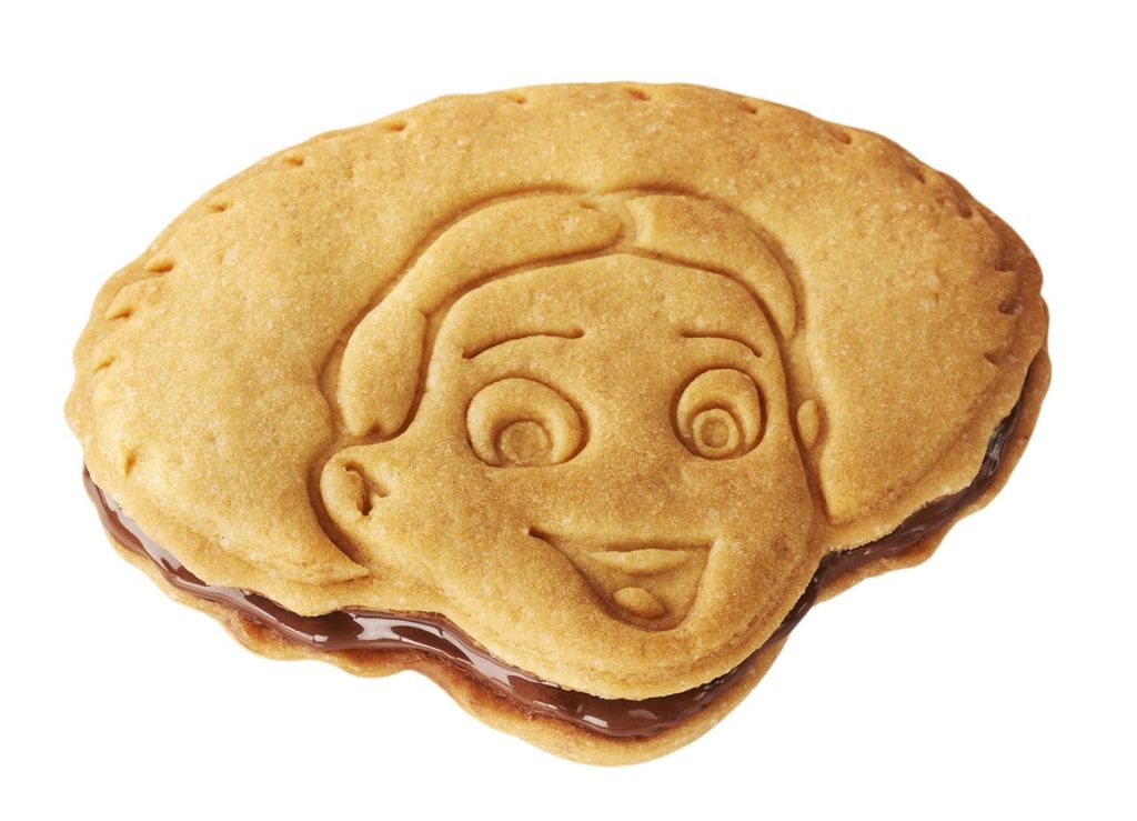 Jessie biscuit filled with a chocolate and Hazelnut spread