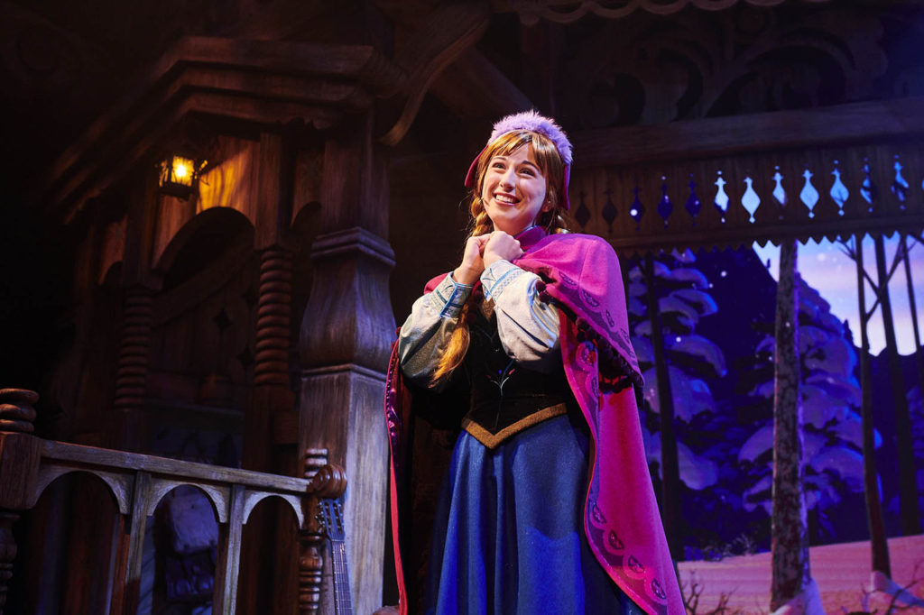 Anna in Kristoff's Barn in Frozen: A Musical Invitation